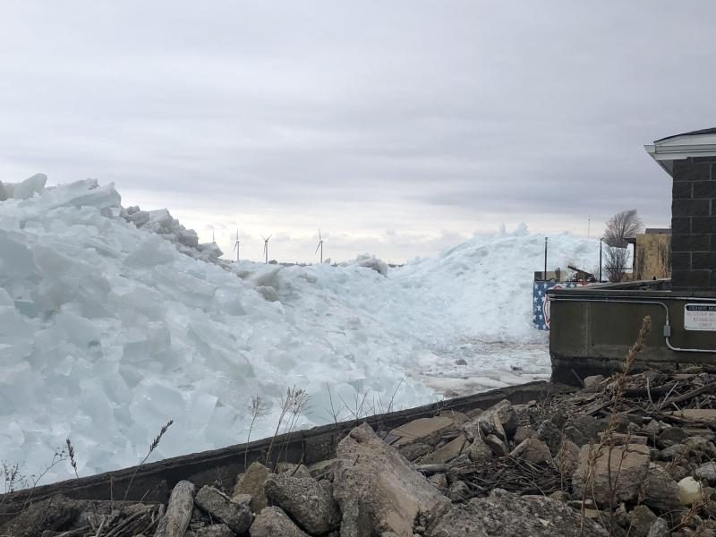 User submitted: Ice buildup on Lake Erie. ICE BUILD UP FROM FEBRUARY 2019 SOURCE: SEAN CROTTY