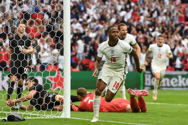 England beat Germany in the last 16 in front of 40,000 fans at Wembley