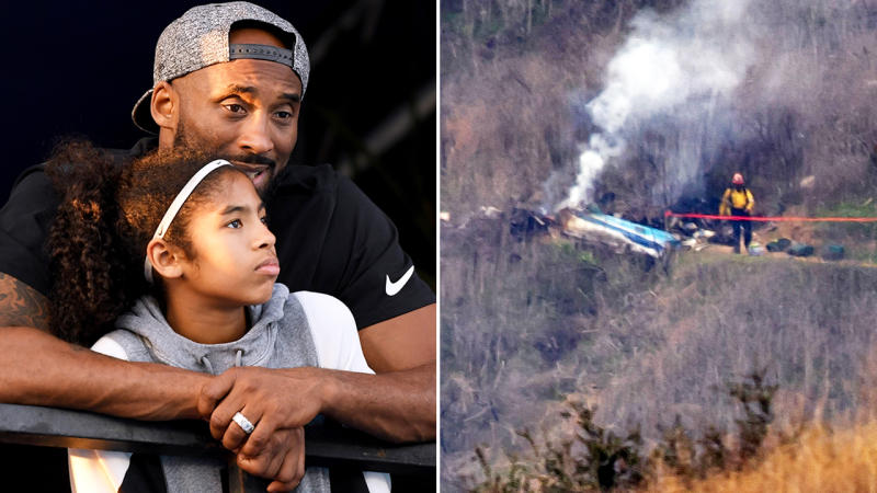 Kobe and Gianna Bryant, pictured here before they were killed in the helicopter crash.
