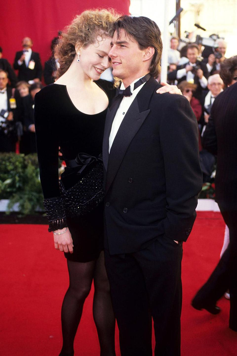 <p>Nicole Kidman and Tom Cruise — who were married from 1990 to 2001 — looked loved up on the red carpet. </p>