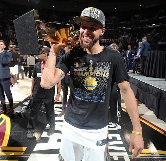 Stephen Curry has three championships and two regular-season MVPs, but still no Finals MVP. (Getty Images)