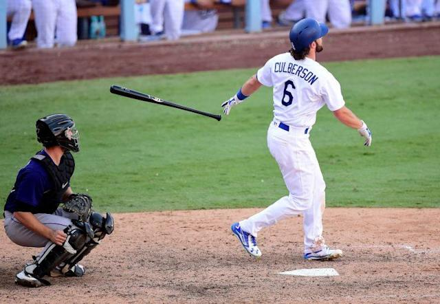 Charlie Culberson's 10th inning walk-off home run propelled the Dodgers to the NL West title. (Getty Images/Harry How)