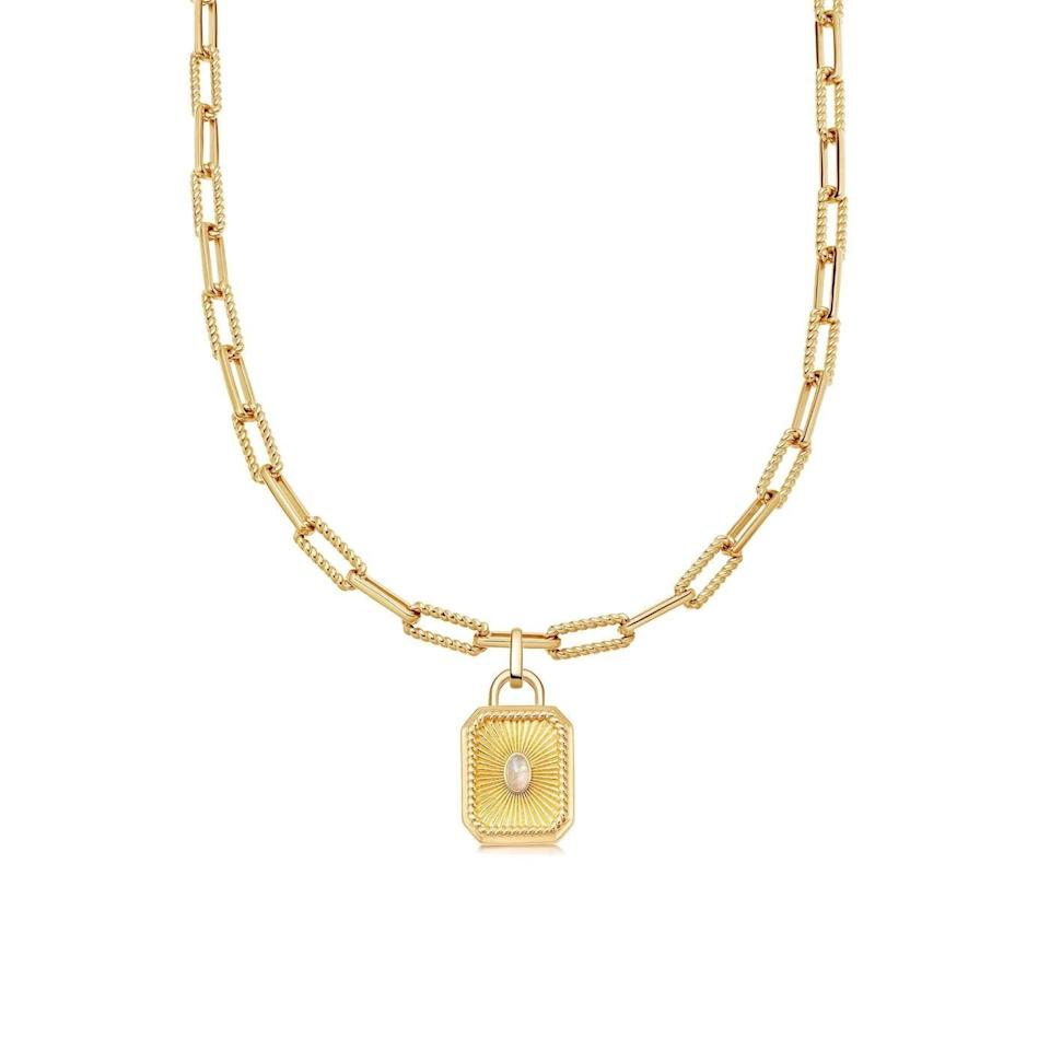 """<p>""""I find myself wearing more gold jewelry lately as a way to glam up my looks. I love the sentimentality of this <span>Missoma Gold Rainbow Moonstone Locket Coterie Necklace</span> ($329), and I'm planning to add a picture in the locket to make it even sweeter."""" - Shelcy Joseph, assistant editor, Shop</p>"""