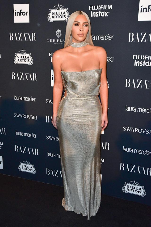 <p>Kim Kardashian attends the 2017 <em>Harper's Bazaar</em> Icons party sponsored by Stella Artois, Infor, Swarovski, Laura Mercier and Fujifilm at the Plaza hotel in New York City. (Photo by Sean Zanni/Patrick McMullan via Getty Images) </p>