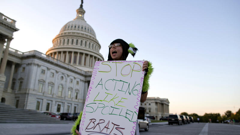 US government shuts down over debt row