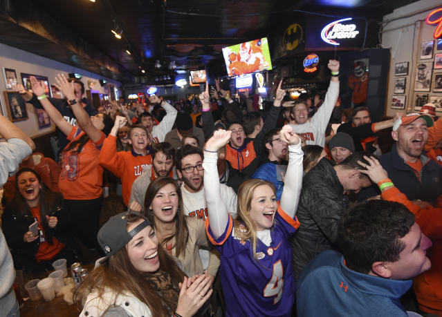 There may be more alcoholic drinks consumed than usual if Clemson makes the national title game. (AP Photo/Rainier Ehrhardt, File)