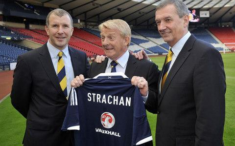 Was there ever such a tale of woe, as that of the SFA and its CEO? Apologies to William Shakespeare for such borrowing, but even the Bard of Avon would have had difficulty condensing the catalogue of incident that awaited Stewart Regan – who quit his post yesterday – when he left Yorkshire Cricket Club to take charge of Scottish football's governing body on July 28, 2010. Within four months, Regan had been forced to sack his head of referee development, Hugh Dallas – along with another four employees – because of a furore generated by their circulation of a satirical email linking the visit of Pope Benedict XVI to the child abuse scandal within the Roman Catholic church. The episode attracted condemnation by that unlikely participant in football controversy, the arch-atheist, Richard Dawkins. That eruption overlapped with another refereeing row when Dougie McDonald awarded Celtic a penalty kick in a league match against Dundee United at Tannadice, then reversed his decision, later claiming to have done so on the advice of his linesman, who promptly denounced this version of the incident as a lie. The contribution of inflammatory remarks by John Reid, the Celtic chairman and former Home Secretary, prompted Scotland's only referees' strike, with officials being imported from Luxembourg, Malta and Israel to allow fixtures to proceed. Scarcely had this episode died down than an altercation between Celtic manager, Neil Lennon, and his Rangers counterpart, Ally McCoist – during an Old Firm derby at Parkhead in March 2011 – triggered the ire of politicians and contributed to the Offensive Behaviour at Football Act, subsequently passed by the Scottish Parliament in January 2012. Neil Lennon and Ally McCoist clash in 2011 Credit: Reuters That particular piece of legislation is in the process of being scrapped, although it has support from organisations formed to fight sectarianism and racism. If Regan hoped that he might draw breath during the summer of 2012, he could not ha