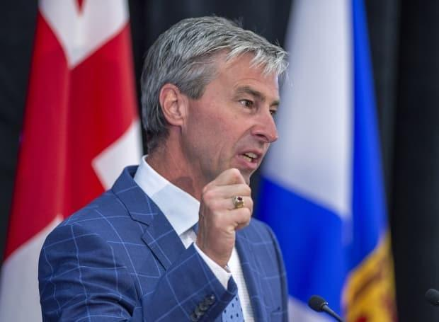 Premier-designate Tim Houston and Nova Scotia Chief Medical Officer of Health Dr. Robert Strang will release the province's back-to-school plan on Monday. (Andrew Vaughan/The Canadian Press - image credit)