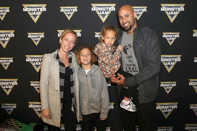 Kendra Wilkinson and Hank Baskett in February
