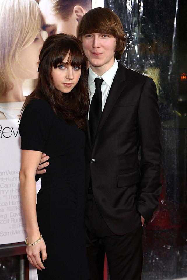 """<a href=""""http://movies.yahoo.com/movie/contributor/1809856324"""">Zoe Kazan</a> and <a href=""""http://movies.yahoo.com/movie/contributor/1808447133"""">Paul Dano</a> at the Los Angeles premiere of <a href=""""http://movies.yahoo.com/movie/1809883886/info"""">Revolutionary Road</a> - 12/15/2008"""