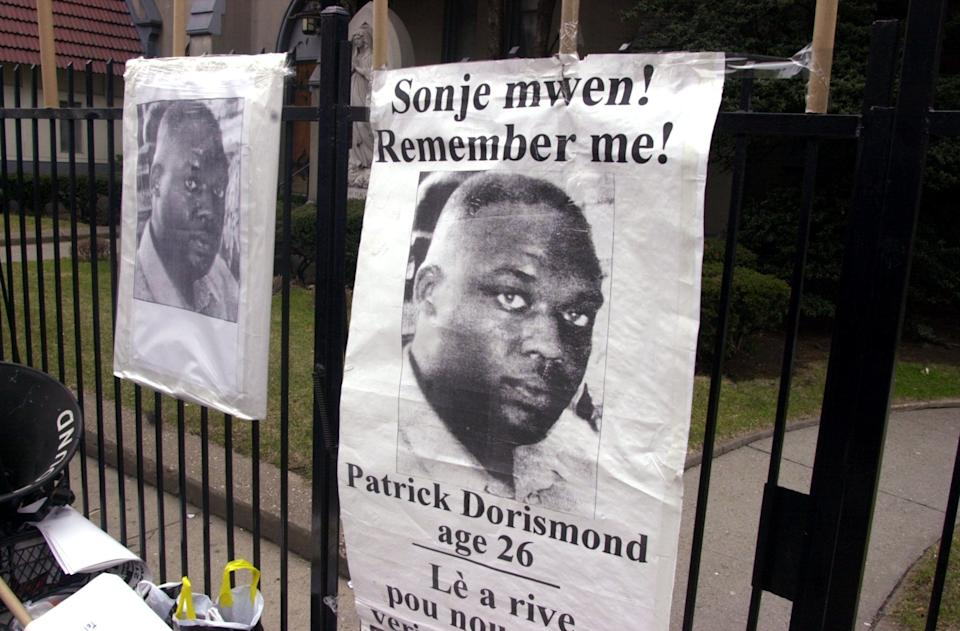 """Patrick Dorismond, 26, was killed by undercover cops while he was waiting for a taxi outside of a New York City bar in 2000. <a href=""""http://www.nytimes.com/2000/03/17/nyregion/undercover-police-in-manhattan-kill-an-unarmed-man-in-a-scuffle.html?pagewanted=all"""" target=""""_blank"""">A scuffle ensued </a>after the cops approached him and asked to buy drugs. Witnesses said police didn't reveal themselves until after one copfired hisgun. The officer who pulled the trigger was <a href=""""http://www.wsws.org/en/articles/2000/08/nyc-a02.html%20"""" target=""""_blank"""">cleared of criminal charges</a>."""