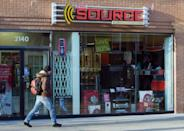A location of The Source in Toronto is seen in March 2009. Employees of the Bell-owned chain say they face pressure to reach unrealistic sales targets.