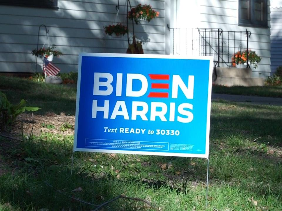 A sign in Iowa was reported to have been damaged this week (AFP via Getty Images)