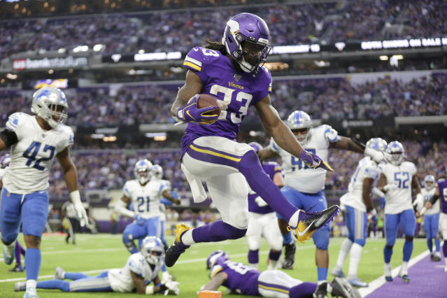 Minnesota Vikings running back Dalvin Cook (33) should return for Sunday's playoff game. (AP Photo/Andy Clayton-King)