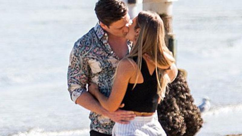 Chelsie McLeod Abbie Chatfield Matt Agnew The Bachelor Australia 2019. Photo: Channel 10.