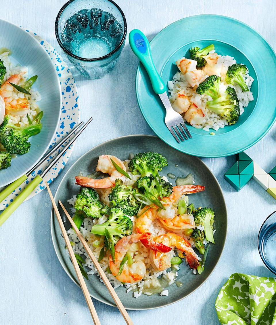This light and easy family-friendly Asian dish works in <i>miso</i>, a probiotic, and <i>broccoli</i>, a prebiotic.