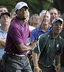 Tiger Woods displayed flashes of his former greatness during his long-awaited return in Ohio, but his game was erratic – especially off the tee