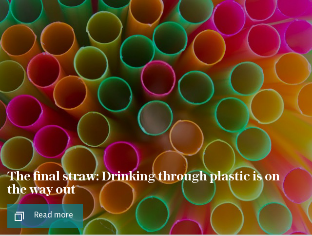 The final straw: Drinking through plastic is on the way out