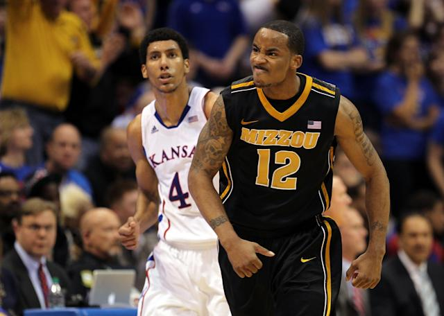Missouri and Kansas last played against each other in February, 2012. (Photo by Jamie Squire/Getty Images)