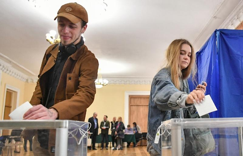 Zelensky's campaign started as a joke but struck a chord with voters frustrated by social injustice, corruption and a war with Russian-backed separatists in eastern Ukraine (AFP Photo/Sergei SUPINSKY)
