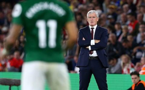 Mark Hughes was not impressed after Southampton let a two-goal lead slip against Brighton last time out - Credit: SOUTHAMPTON FC
