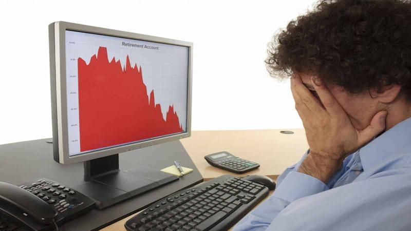 stock chart heads down