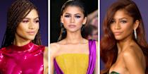 <p>When you think of Black beauty icons, Zendaya probably comes to mind. The 24-year-old <em>Euphoria</em> star is best known for her signature full brows and flirty top knots, but has slayed everything from a two-tone mullet (with a notable tail) to a moody ombre lip. In fact, she's so iconic that a Barbie doll was made in her likeness of her insanely gorgeous faux loc look at the 2015 Oscar Awards. </p><p>Ahead, click your way through the <em>Spider-Man</em> star's most stand-out red carpet looks over the past decade of her career. </p>