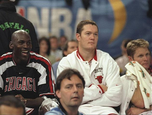 Luc Longley and Steve Kerr are already sick of Michael Jordan explaining his Twitter burns. (Getty Images)