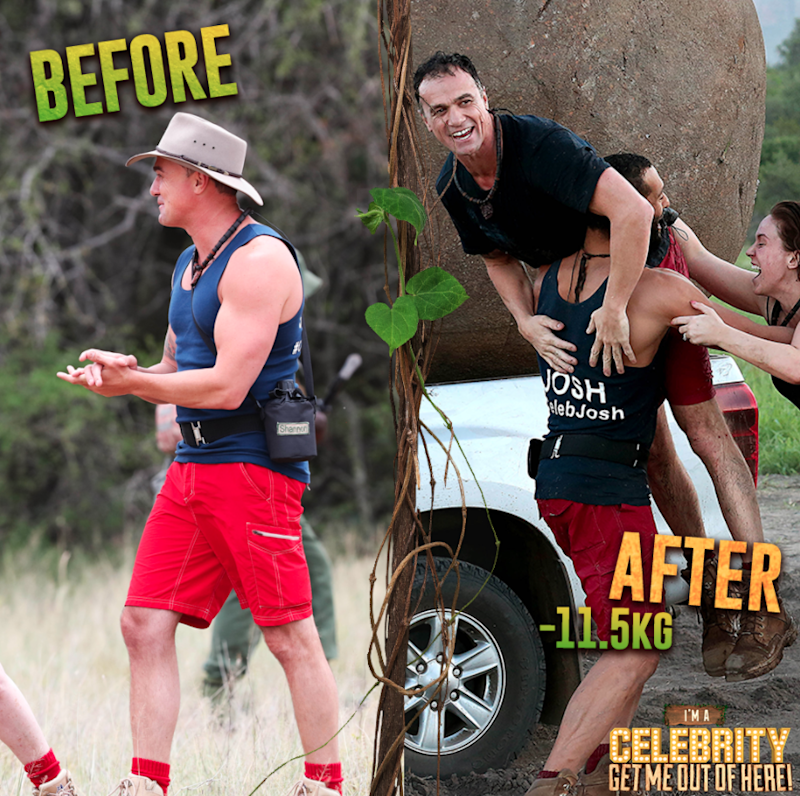Former Australian Idol star Shannon Noll really shed some weight, losing a total of 11.5kg. Source: Ten