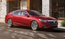 """<p>The <a href=""""https://www.caranddriver.com/honda/insight"""" rel=""""nofollow noopener"""" target=""""_blank"""" data-ylk=""""slk:2021 Honda Insight"""" class=""""link rapid-noclick-resp"""">2021 Honda Insight</a> is a hybrid with great fuel economy that looks and drives mostly like a conventional compact sedan. It shares many components with the popular <a href=""""https://www.caranddriver.com/honda/civic"""" rel=""""nofollow noopener"""" target=""""_blank"""" data-ylk=""""slk:Honda Civic sedan"""" class=""""link rapid-noclick-resp"""">Honda Civic sedan</a>, and delivers a similarly pleasant driving experience and roomy, practical interior. The crucial difference is the Insight's combination of a gasoline engine and electric motors, which supply power in a non-traditional way in the name of efficiency. The hybrid system is seamless during everyday driving but can occasionally be noisy when accelerating hard. But the Insight's minimal price premium over the Civic and superb fuel economy make it a smart buy.</p><p><a class=""""link rapid-noclick-resp"""" href=""""https://www.caranddriver.com/honda/insight"""" rel=""""nofollow noopener"""" target=""""_blank"""" data-ylk=""""slk:Review, Pricing, and Specs"""">Review, Pricing, and Specs</a></p>"""