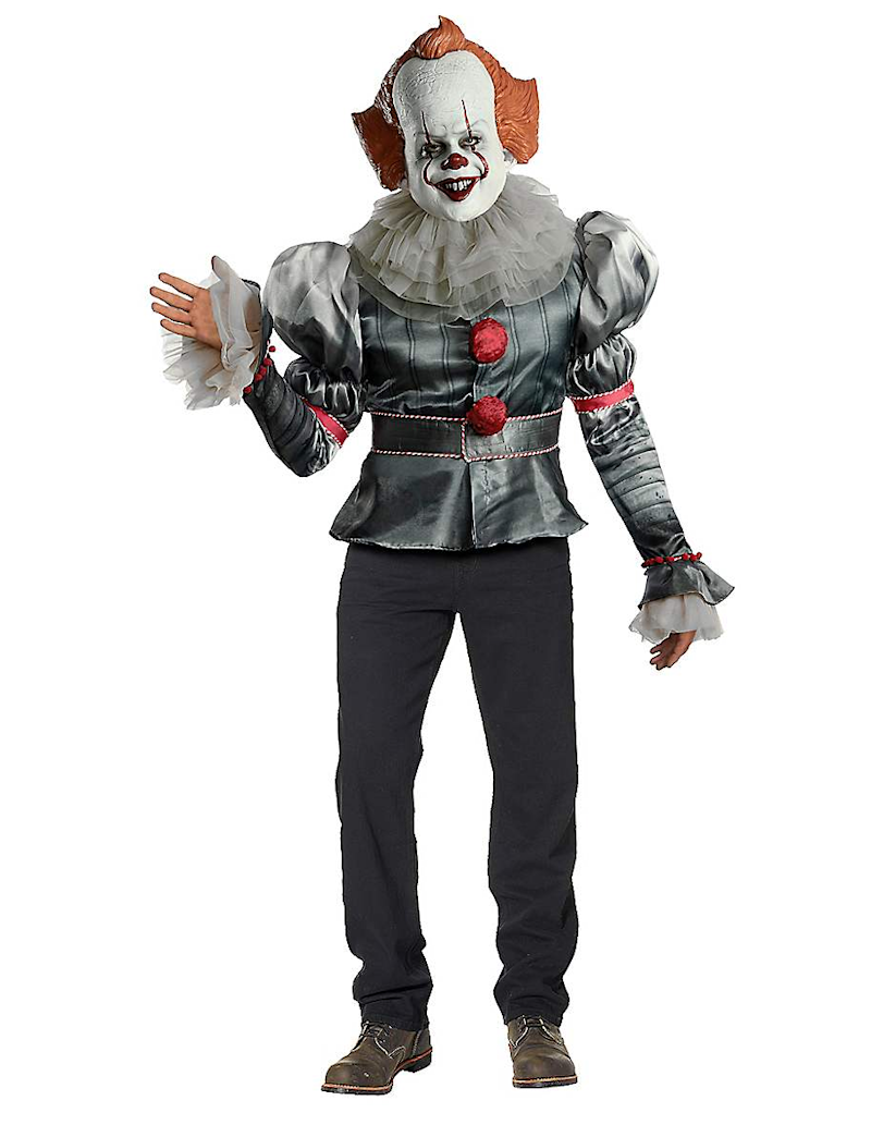 Adult Pennywise Costume Deluxe. Image via Spirit Halloween.