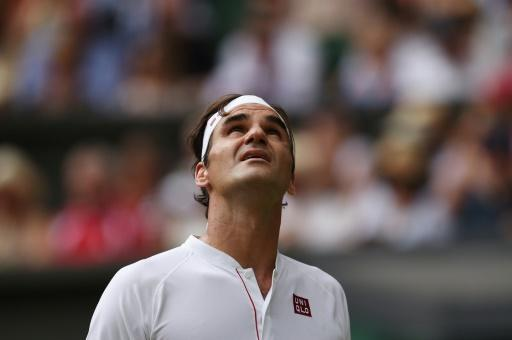 Everything is looking up: Roger Federer after beating France's Adrian Mannarino in the fourth round