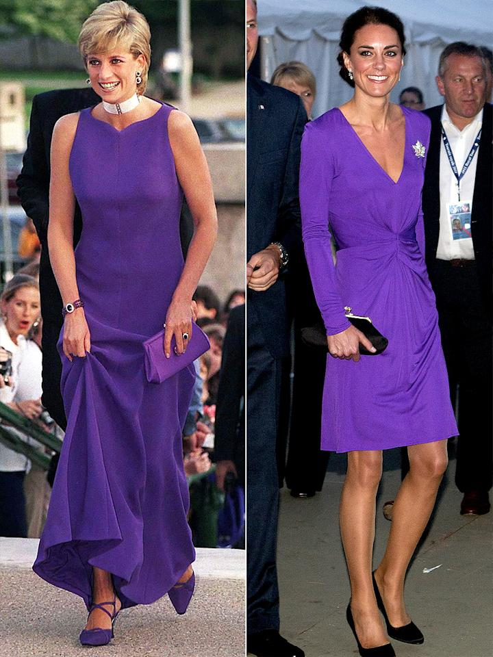 <p>Two beloved Brits — Princess Diana and Princess Kate — both rocked the shade. Diana wore a Versace look with matching heels and a pearl choker to the Field Museum of Natural History in Chicago in 1996, while the future Queen chose a flattering Issa design while touring North America in 2011. </p>