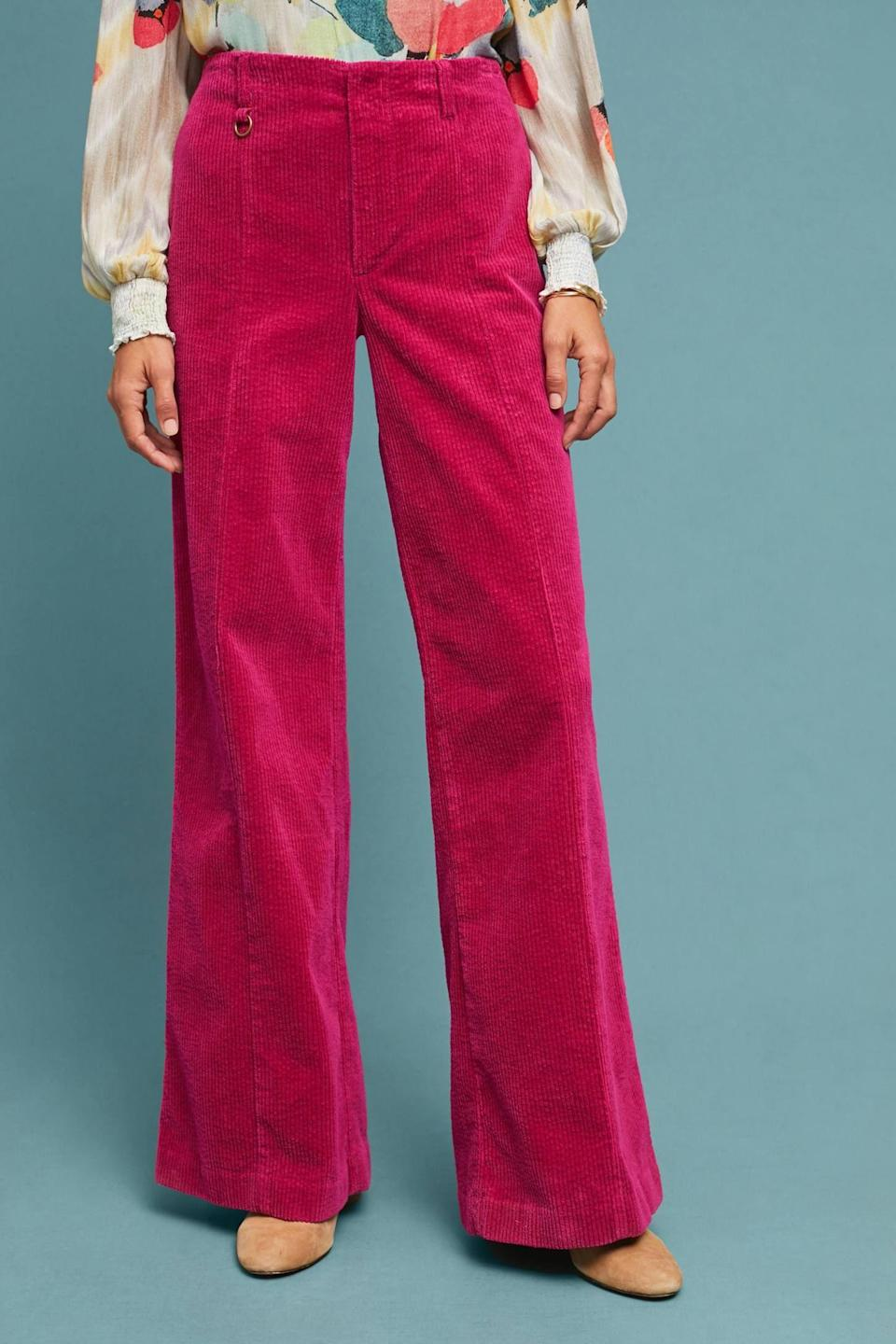 Then add a pair of pink trousers. The colors don't seem like they'd work together, but they just do.