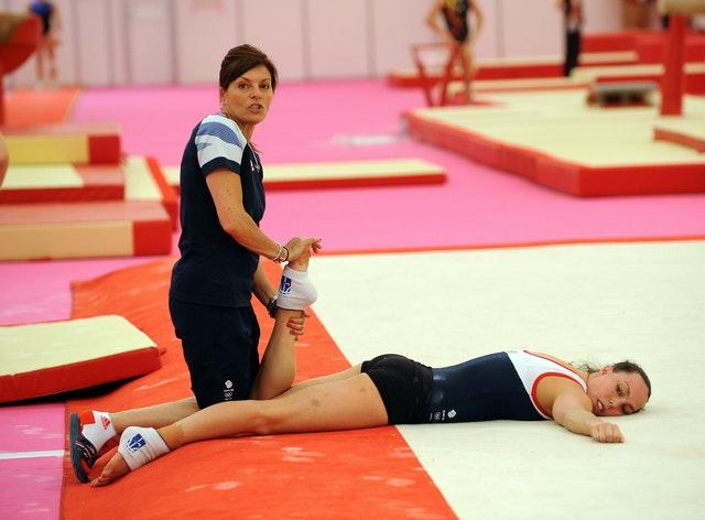 Amanda Reddin, left, pictured with former Olympic gymnast Beth Tweddle in 2012