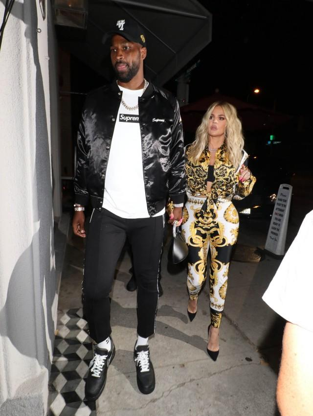 Khloe Kardashian And Tristan Thompson Step Out For Date Night In