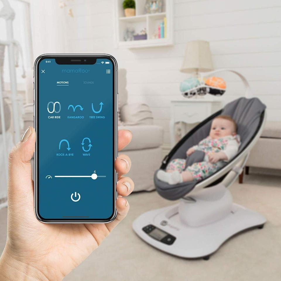 """Your kiddo will love this soothing swing, which comes with five unique motions and speeds you can control with your smartphone.<br /><br /><strong>Promising review:</strong>""""The fact that I am able to sit at my computer and write this review alone means this is worth five stars.<strong>My newborn has not slept without being held since we first brought him home from the hospital. He is currently asleep five minutes after putting him into the infant seat.</strong>"""" —<a href=""""https://amzn.to/3oac2Yp"""" target=""""_blank"""" rel=""""nofollow noopener noreferrer"""" data-skimlinks-tracking=""""5189597"""" data-vars-affiliate=""""Amazon"""" data-vars-href=""""https://www.amazon.com/gp/customer-reviews/R2PJGKFFIT0OG3?tag=bfheather-20&ascsubtag=5189597%2C22%2C44%2Cmobile_web%2C0%2C0%2C160734"""" data-vars-keywords=""""cleaning,fast fashion"""" data-vars-link-id=""""160734"""" data-vars-price="""""""" data-vars-product-id=""""15996775"""" data-vars-retailers=""""Amazon"""">Sir Booga's Mummy<br /></a><a href=""""https://amzn.to/3o8vuEU"""" target=""""_blank"""" rel=""""noopener noreferrer""""><strong><br />Get it from Amazon for$219.99.</strong></a>"""