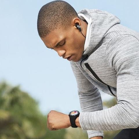 Smartwatches have been a slow burner for many consumers, but as the technology improves and their popularity moves beyond gadget-lovers there are plenty of good reasons to buy one. Many smartwatches emulate fitness trackers, offering abilities such as heart rate monitoring, GPS and water resistance. Others have gone down a luxury route, trying to match the style of traditional timepieces. Smartwatches can connect to your smartphone via Bluetooth, giving you up to date information from notifications and alerts. Whether you are after an Apple Watch for your iPhone or just a simple Fitbit, The Telegraph has broken down some of the best smartwatches for different uses to help pick a timepiece that is right for you. The best smartwatch to buy in 2018 Apple Watch Series 3 with 4G £429, Currys Apple Watch Series 3 The Apple Watch Series 3 is the culmination of Apple's recent advancements in smartwatch technology and is still the best you can buy. It's also one of the top fitness gadgets out there, thanks to all the features of WatchOS 4,useful for running, swimming and health tracking. Itcomes with a heart rate monitor, and will soon be able to plug in to a variety of gym equipment, logging your data as you go. It's also first and foremost a smartwatch. It can take emails and text messages, and can now operate using its own 4G and mobile signal, meaning you don't need your iPhone with you to use the watch to make calls. On top of this you get access to a host of apps such as WhatsApp and Apple Music on the go. However, with a battery life that will often not last the day, you will need to keep a charger handy.Connectivity also is not cheap. The mobile version of the Series 3 Watch is a £70 premium at £429, a massive asking price.EE, the only UK network it works with, charges £5 a month for the service. You can read James Titcomb's full review of the Apple Watch Series 3 here. Telegraph rating: 9/10 Buy now Samsung Gear Sport £299, John Lewis Samsung Gear Sport Credit: Sams