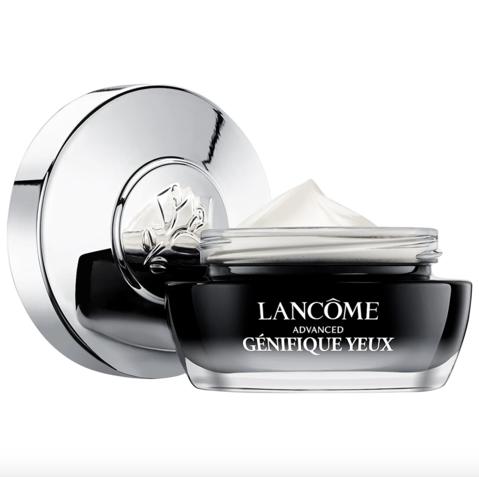 """<p><strong>Lancôme</strong></p><p>sephora.com</p><p><strong>$68.00</strong></p><p><a href=""""https://go.redirectingat.com?id=74968X1596630&url=https%3A%2F%2Fwww.sephora.com%2Fproduct%2Flancome-advanced-genifique-wrinkle-dark-circle-eye-cream-P472981&sref=https%3A%2F%2Fwww.thepioneerwoman.com%2Fbeauty%2Fskin-makeup-nails%2Fg37620997%2Fbest-eye-cream-for-wrinkles%2F"""" rel=""""nofollow noopener"""" target=""""_blank"""" data-ylk=""""slk:Shop Now"""" class=""""link rapid-noclick-resp"""">Shop Now</a></p><p>If you feel like you've tried everything but nothing has worked, it might be time to invest in this eye cream. Fueled by Bifidobacteria, hyaluronic acid, and vitamin C, it works wonders against wrinkles, eyebags, and dark circles.</p>"""
