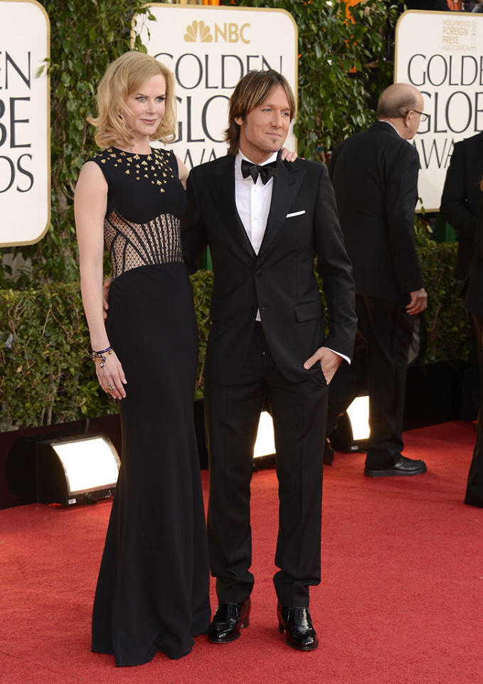 Nicole Kidman and Keith Urban arrive at the 70th Annual Golden Globe Awards at the Beverly Hilton in Beverly Hills, CA on January 13, 2013.