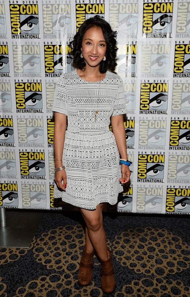 "Executive producer Maurissa Tancharoen attends ""Marvel's Agents Of S.H.I.E.L.D."" Press Line during Comic-Con International 2013 at Hilton San Diego Bayfront Hotel on July 19, 2013 in San Diego, California."