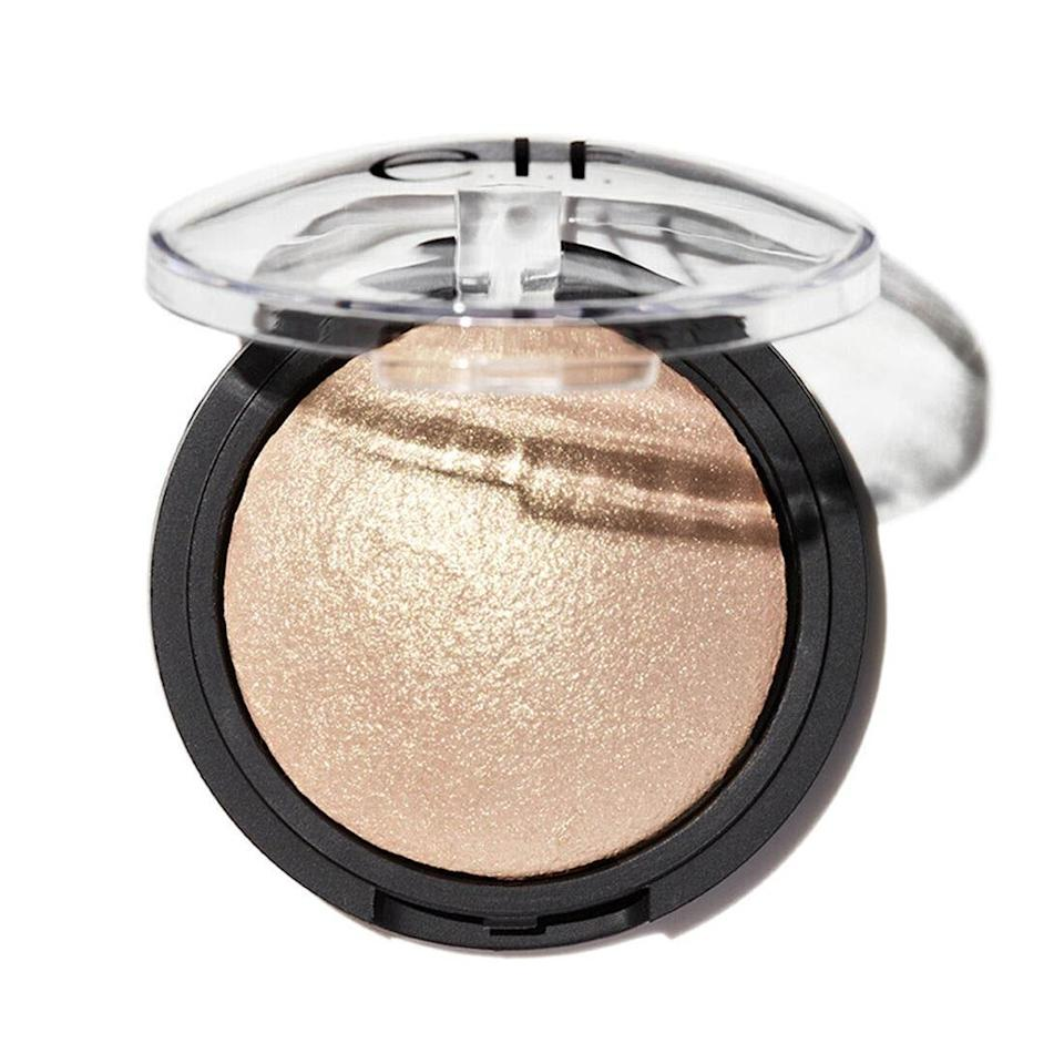 """<p>Have you checked out our list of the <a href=""""https://www.allure.com/gallery/best-highlighters?mbid=synd_yahoo_rss"""" rel=""""nofollow noopener"""" target=""""_blank"""" data-ylk=""""slk:best glow-givers of the year"""" class=""""link rapid-noclick-resp"""">best glow-givers of the year</a> yet? If so, then you already know E.L.F.'s best-selling Baked Highlighter made the cut. Despite technically being a powder, its ultra-buttery, featherlight formula melts into the skin seamlessly and never looks cakey when worn on top of foundation and concealer. It also contains skin-loving ingredients like vitamin E, jojoba, and apricot seed oils, which is a nice added bonus.</p> <p><strong>$4</strong> (<a href=""""https://shop-links.co/1713464527192222813"""" rel=""""nofollow noopener"""" target=""""_blank"""" data-ylk=""""slk:Shop Now"""" class=""""link rapid-noclick-resp"""">Shop Now</a>)</p>"""