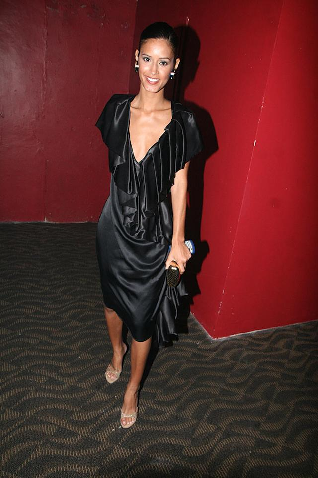 "Did former ""Top Model"" Jaslene Gonzalez don a black trash bag for a night on the town? Johnny Nunez/<a href=""http://www.wireimage.com"" target=""new"">WireImage.com</a> - July 13, 2008"