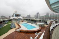 Many of the cruise ships come complete with everything from jacuzzis to a theatre