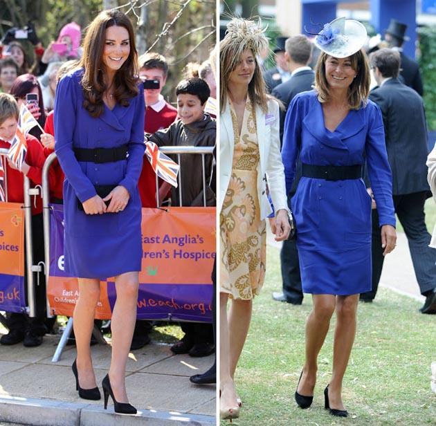 Kate Middleton's omg! moments: The moment she raided her mum's wardrobe. This year saw Kate Middleton make her first, and very important, public speech at The Treehouse hospice. The event was no doubt nerve-wracking, and the prospect of what to wear was no doubt a daunting one. So Kate decided to borrow one of her mum's dresses for the occasion. And we fell in love with her a bit more.