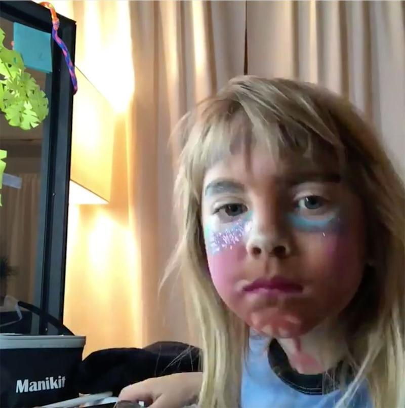 Willow Sage Hart with a full face of makeup