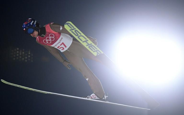 Poland's Kamil Stoch, a ski jump gold medal favourite, takes part in one of the preliminary events
