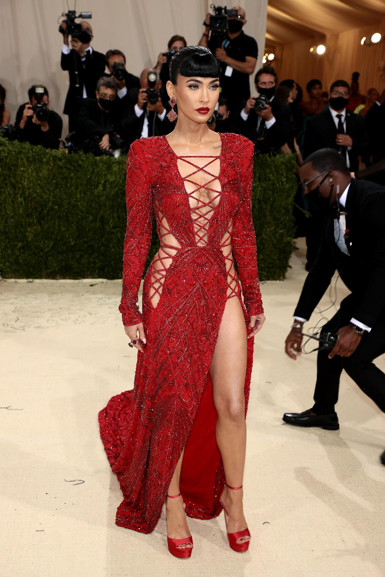 Megan Fox attends The 2021 Met Gala Celebrating In America: A Lexicon Of Fashion at Metropolitan Museum of Art on September 13, 2021 in New York City. (Getty Images)