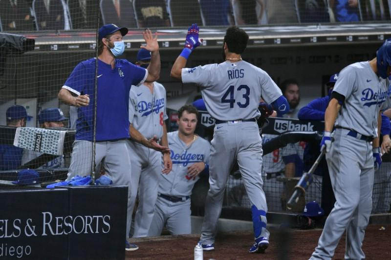 MLB roundup: Dodgers halt Padres' eight-game win streak