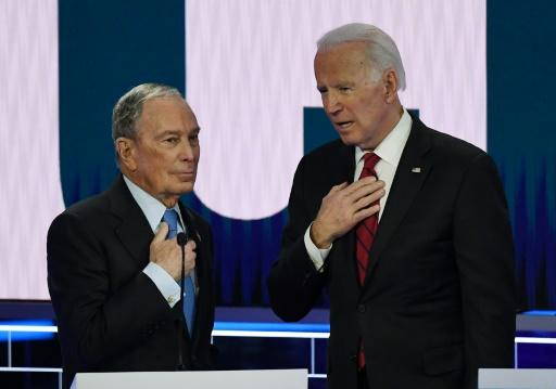Former New York mayor Michael Bloomberg (L) and former vice president Joe Biden are two establishment candidates seeking the 2020 Democratic presidential nomination